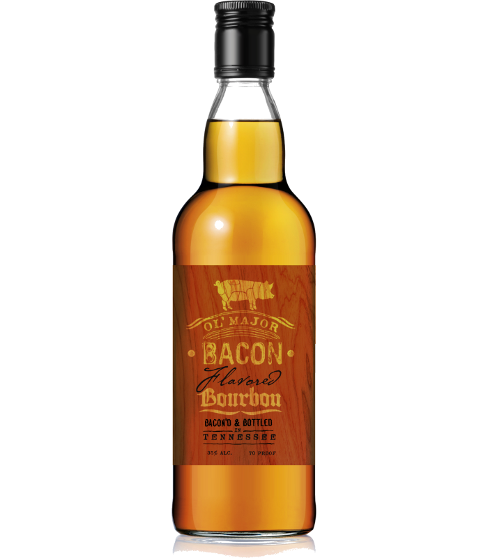 Ol' Major Bacon Bourbon Bottle